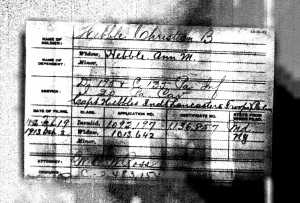 Christian B. Hebble Pension Record